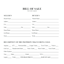Bill Of Sale For Car Nc Blank Bill Of Sale For Car Free Printable Receipt Sell