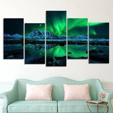 aurora mountain scape multi panel