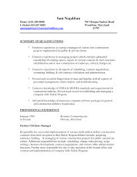 Resume For A Construction Worker Sample Resume For Construction