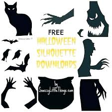 Word Halloween Templates Halloween Window Stencils Window Silhouettes Witch Templates