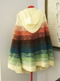 Hooded Poncho Pattern