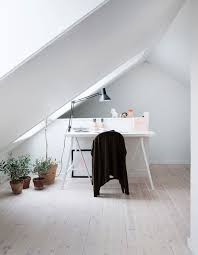 beautiful bright office. beautiful bright attic spaces for an office or studio with white design