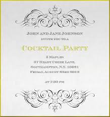 Scroll Birthday Invitations Double Scroll Framed Cocktails