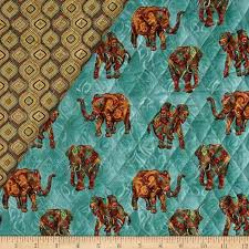 Tribal Instincts Double Sided Quilted Tribe Elephant Neutral ... & Tribal Instincts Double Sided Quilted Tribe Elephant Neutral - Discount  Designer Fabric - Fabric.com Adamdwight.com