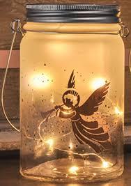 Deko Glas Zum Aufhängen Weihnachten Winter Dekoration Mit Led Beleuchtung Motivengel