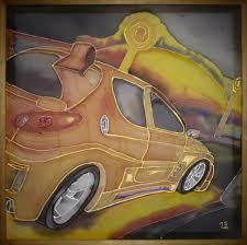 Это моя дипломная работа в ДХШ детская художественная школа drive Работа выполнена в технике Батик рисунок по шелку мне было 16 лет когда рисовал ее