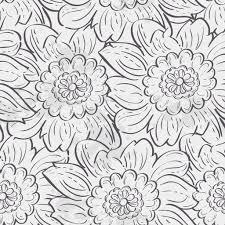 アジサイの花のシームレスなテクスチャ黒の輪郭 ストックベクター