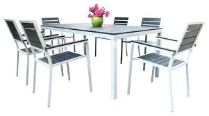 white aluminum outdoor dining table best of aluminum patio dining set for aluminum dining room chairs