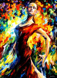 in the style of flamenco painting leonid afremov in the style of flamenco art painting