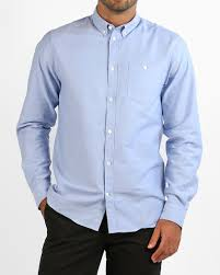 Blue Button Designs Norse Projects Anton Oxford Pale Blue Tanner Goods