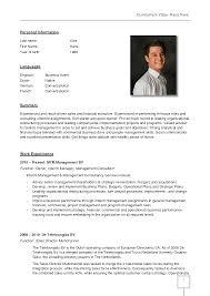 German Resume Example Impressive Resume Sample In Germany In German Cv Template Doc 1