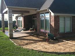 stamped concrete patio cost calculator. Stamped Concrete Addition To A Previous Covered Patio. Patio Cost Calculator