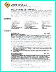Construction Superintendent Resume Haadyaooverbayresort Com