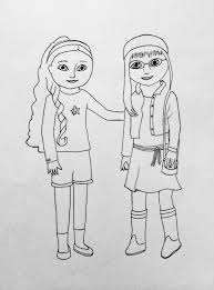 Coloring Pages American Girl Doll Coloring Pages Printable Pdf