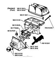 husqvarna 45 1987 01 parts diagrams air filter carburetor