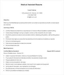 Example Of A Medical Assistant Resumes Medical Assistant Resumes Samples Pohlazeniduse