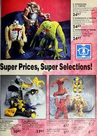hasbro toys including inhumanoids from a vine toys r us catalog