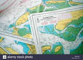 Nautical Charts Netherlands Nautical Charts Of The Wadden Sea The Netherlands Stock