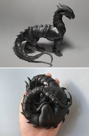 dragon inspired gifts. Perfect Dragon 8 BallJointed Dragon Which Curls Up How You Want Intended Inspired Gifts