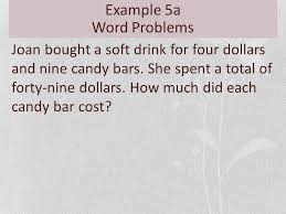 example 5a word problems