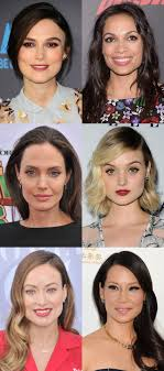 celebrity exles of the square face shape