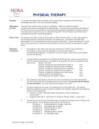 Resume Examples For Physical Therapist Examples Of Resumes