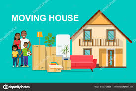 New House Download New House Family Happy Afro American Family Isolated Things Box