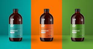 Kombucha Label Design Better Booch Premium Small Craft Kombucha Dieline