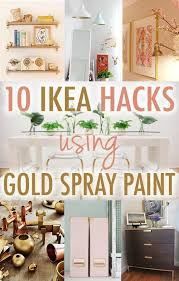 ikea furniture diy. 10 times gold spray paint made ikea products even better furniture diy