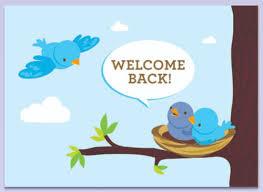welcome back signs printable printable welcome cards welcome back card printable card design