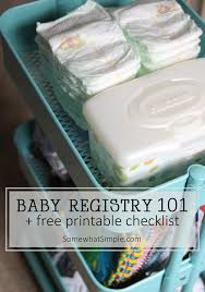 Baby Registry Checklist Free Printable - Somewhat Simple