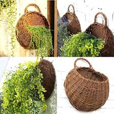 wall hanging wicker baskets wicker brown wood wall hanging pocket basket flat back door decor country wall hanging wicker baskets