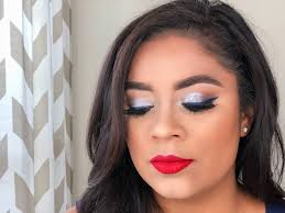 beauty mix 4th of july makeup look