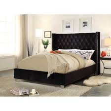 Meridian Bedroom Furniture Meridian Furniture Usa Aiden Upholstered Platform Bed Reviews