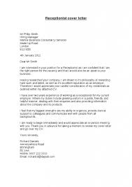 Cover Letter Template For Non Expierenced Receptionist Sample Cover