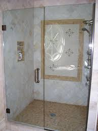 1 2 frameless shower door with panel custom colored hardware and handle