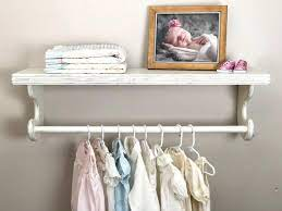hanging baby clothes rack shelf with