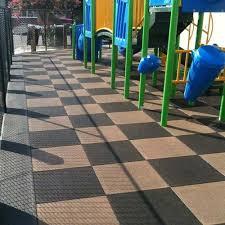 blue sky outdoor rubber playground flooring