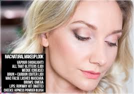 mac natural makeup look