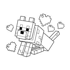 Wolf Minecraft Kleurplaten Minecraft Verjaardag En Minecraft