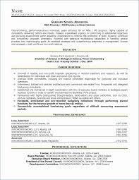 Graduate School Resume Template Interesting Grad School Resume Sample Fantastic Amazing Grad School Application