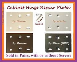 hinge repair plates kitchen bed bath door white cream brown