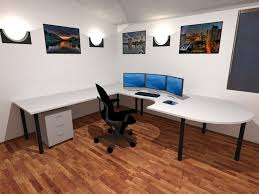 workspace lighting. Office \u0026 Workspace : Modern Room Ideas Alongside Ivory Wall Scheme With Painting Picture And Circle Lighting Mounted Corner Table A