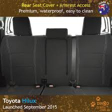 custom fit waterproof neoprene toyota hilux mk 8 sr sr5 rear seat covers