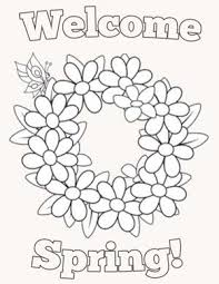 Spring Coloring Pages For Kids Season Spring Activities And