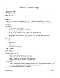 Example Bartender Resume Mesmerizing Bar Staff Resume Sample Bartender Skills Examples Manager Catering