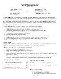 Intermediate Oral Skills Syllabus Sample Template College 7 Free ...