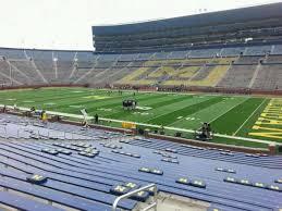 Michigan Stadium Section 19 Home Of Michigan Wolverines