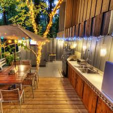 deck accent lighting. Outdoor String Lights On Deck Christmas Accent Lighting 3