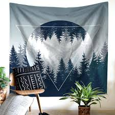 forest wall tapestry wall tapestry fog tree forest mountain wilderness forest nature wall decor large wall forest wall tapestry